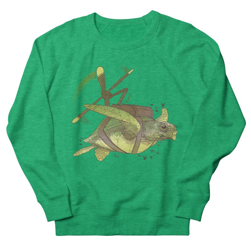 Fred the Giant Flying Laser-Eyed Turtle Women's Sweatshirt by march1studios's Artist Shop