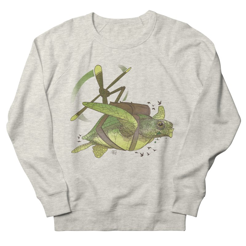Fred the Giant Flying Laser-Eyed Turtle Men's Sweatshirt by march1studios's Artist Shop