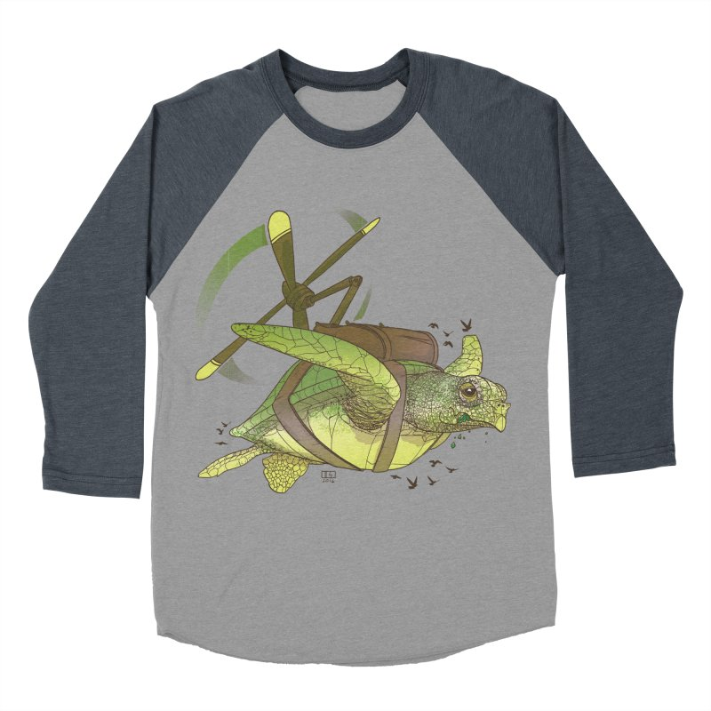 Fred the Giant Flying Laser-Eyed Turtle Women's Baseball Triblend T-Shirt by march1studios's Artist Shop