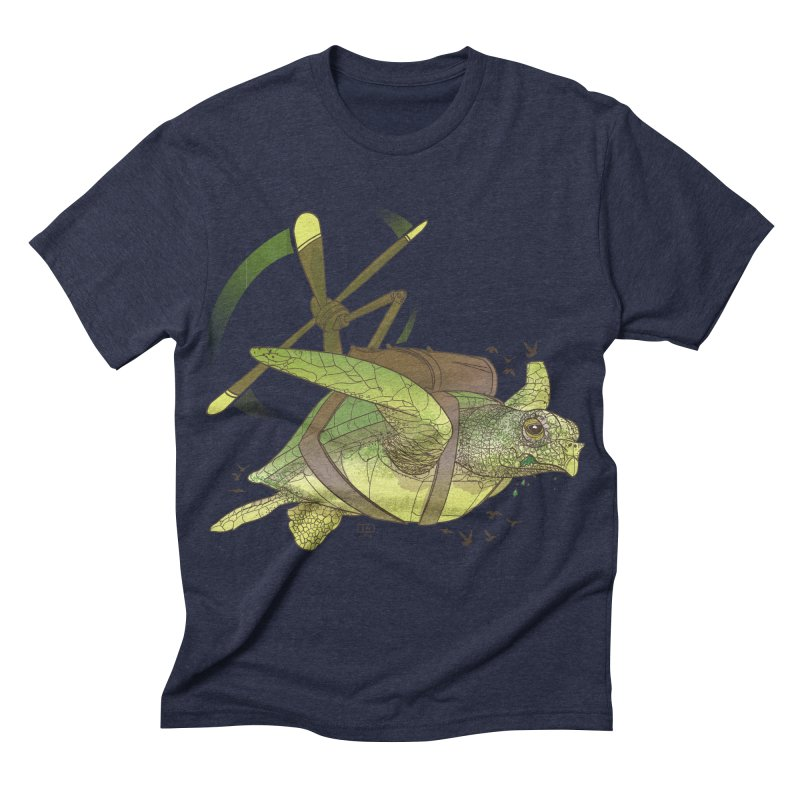Fred the Giant Flying Laser-Eyed Turtle Men's Triblend T-shirt by march1studios's Artist Shop