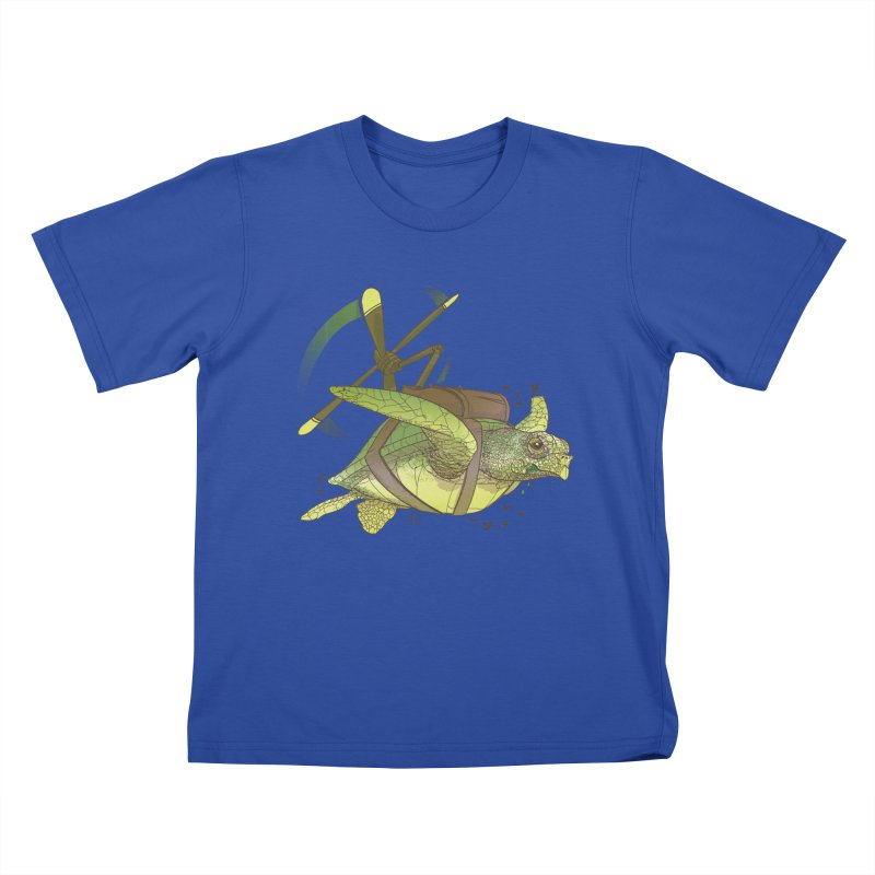 Fred the Giant Flying Laser-Eyed Turtle Kids T-shirt by march1studios's Artist Shop