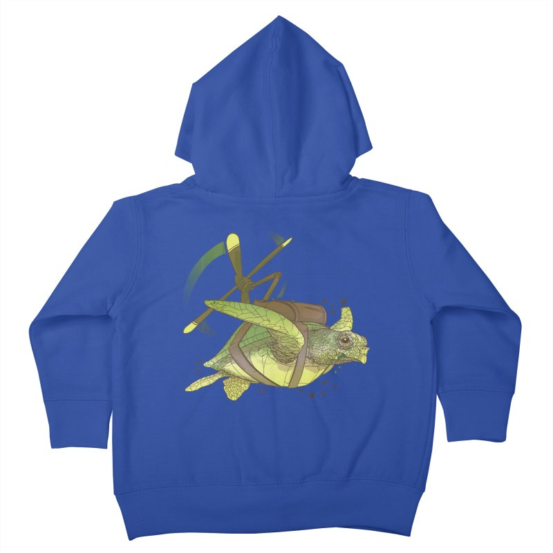Fred the Giant Flying Laser-Eyed Turtle Kids Toddler Zip-Up Hoody by march1studios's Artist Shop