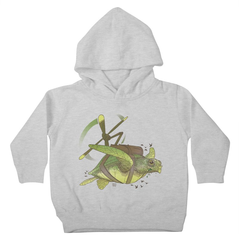 Fred the Giant Flying Laser-Eyed Turtle Kids Toddler Pullover Hoody by march1studios's Artist Shop