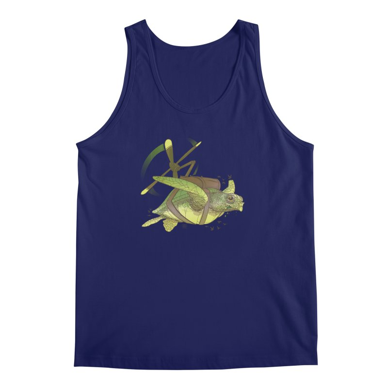 Fred the Giant Flying Laser-Eyed Turtle Men's Regular Tank by march1studios's Artist Shop