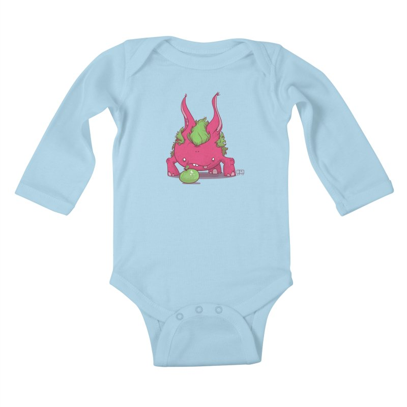 The Jenna Monster Kids Baby Longsleeve Bodysuit by march1studios's Artist Shop