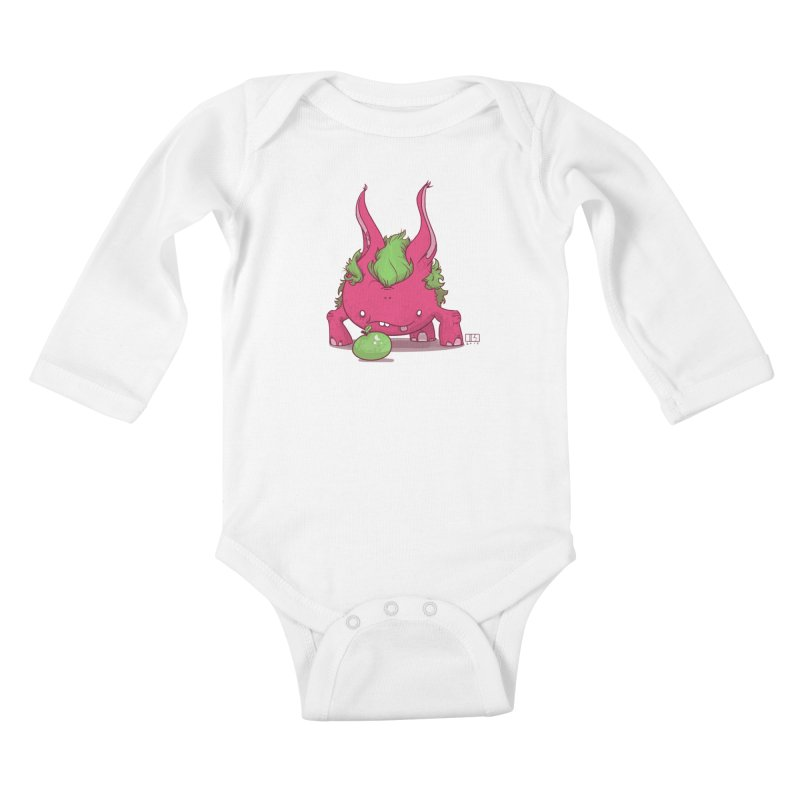 The Jenna Monster Kids Baby Longsleeve Bodysuit by march1studios's Artist Shop