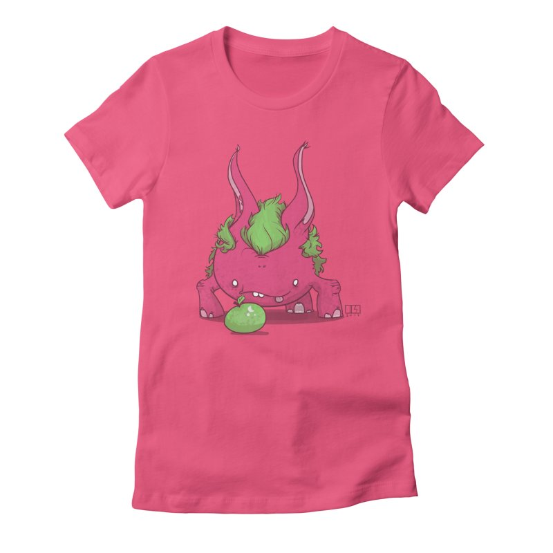 The Jenna Monster Women's Fitted T-Shirt by march1studios's Artist Shop