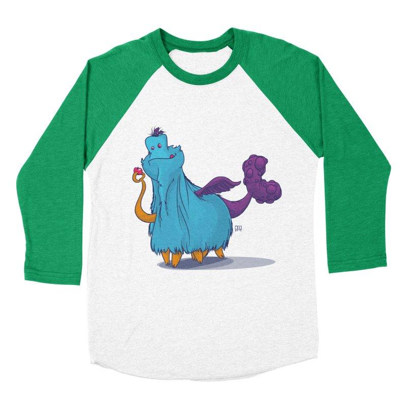 The Fluey Monster Women's Baseball Triblend T-Shirt by march1studios's Artist Shop