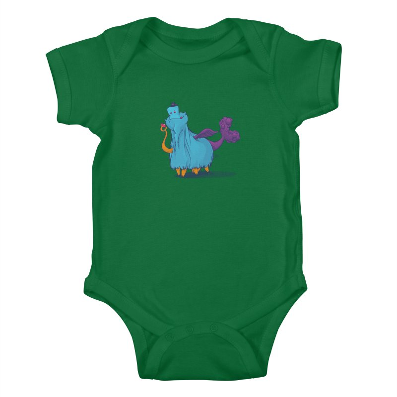 The Fluey Monster Kids Baby Bodysuit by march1studios's Artist Shop