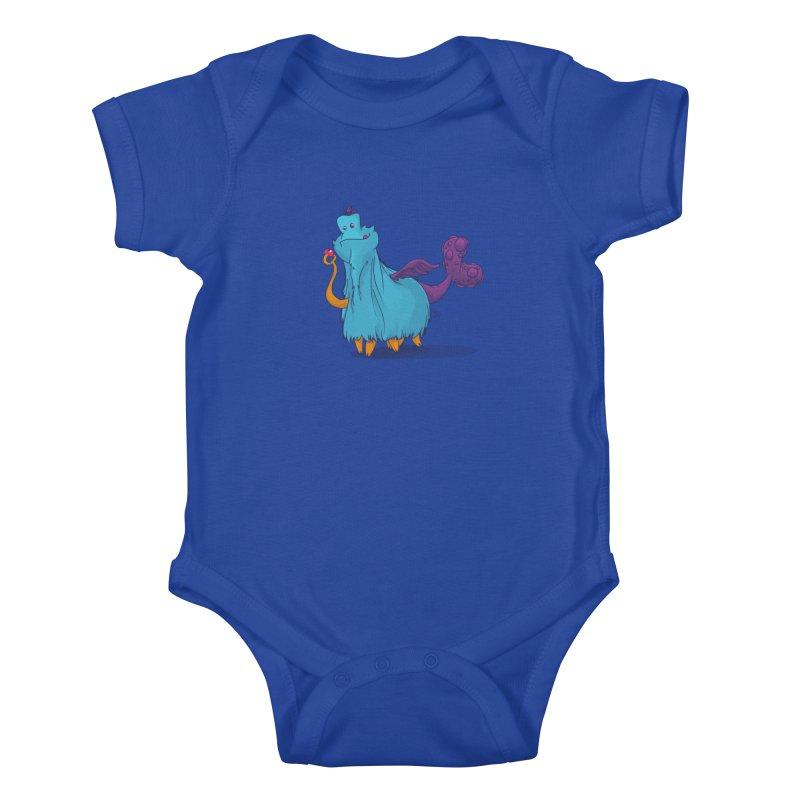 The Fluey Monster Kids Baby Bodysuit by march1studios's Artist Shop