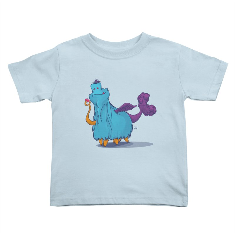 The Fluey Monster Kids Toddler T-Shirt by march1studios's Artist Shop