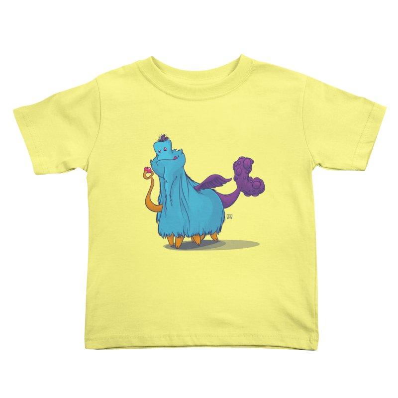 The Fluey Monster Kids Toddler T-Shirt by march1studios's Artist Shop