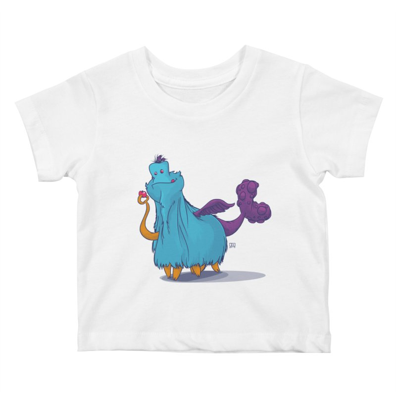 The Fluey Monster Kids Baby T-Shirt by march1studios's Artist Shop