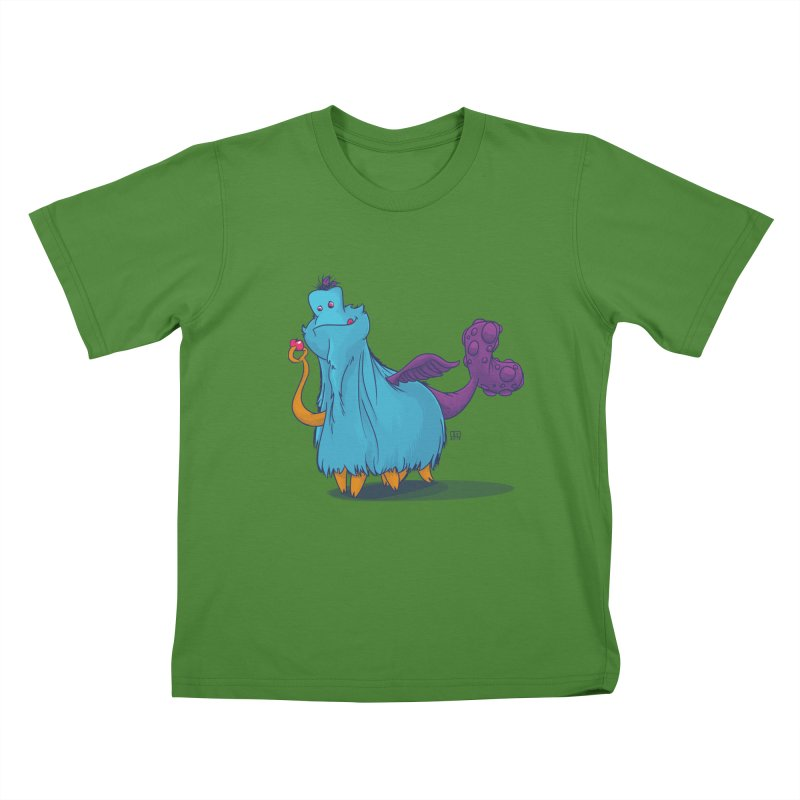The Fluey Monster Kids T-shirt by march1studios's Artist Shop