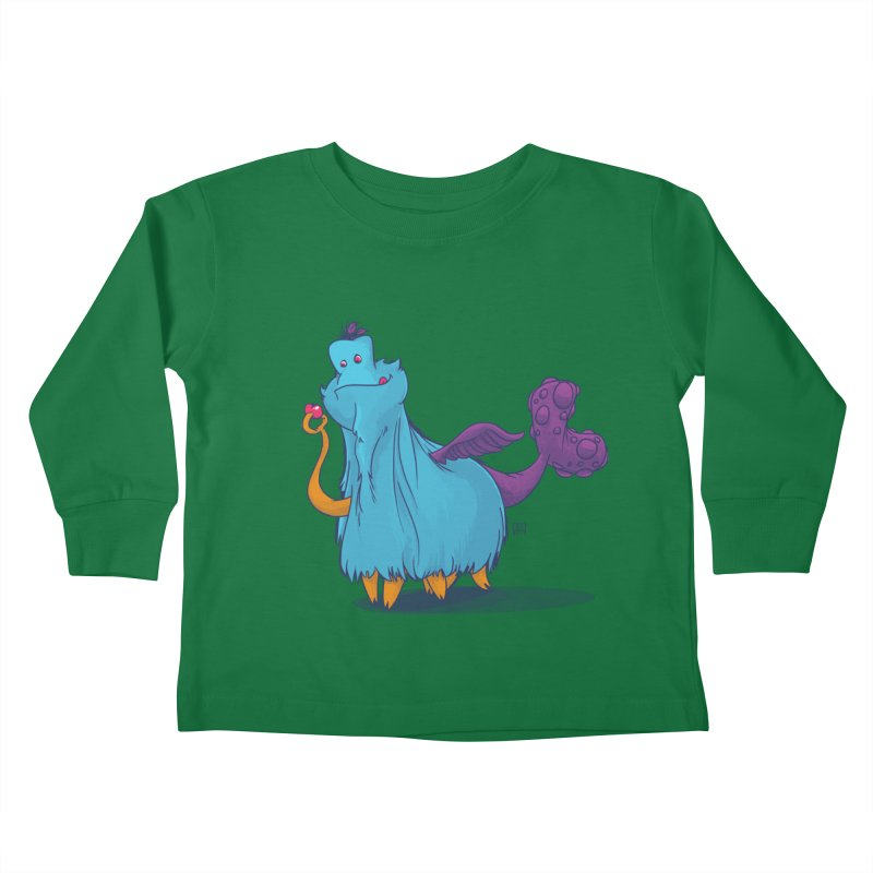 The Fluey Monster Kids Toddler Longsleeve T-Shirt by march1studios's Artist Shop