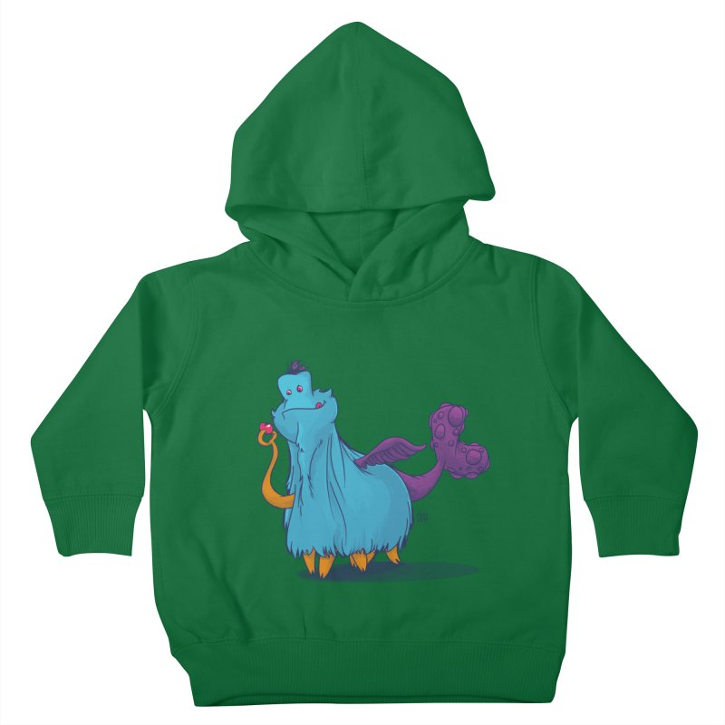 The Fluey Monster Kids Toddler Pullover Hoody by march1studios's Artist Shop