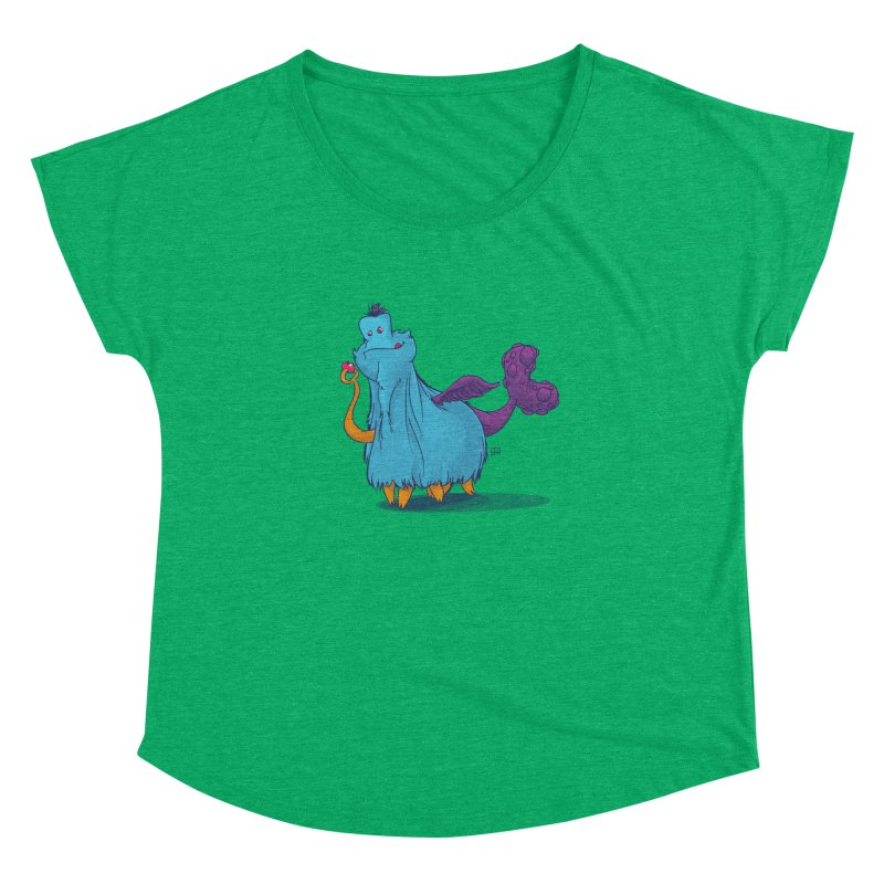 The Fluey Monster Women's Dolman Scoop Neck by march1studios's Artist Shop