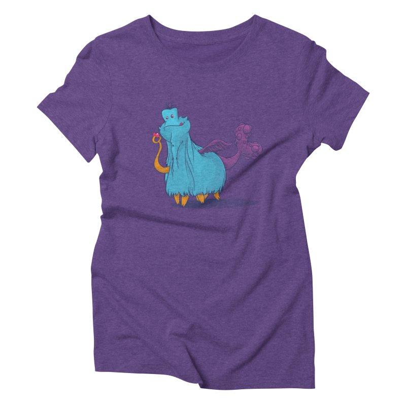 The Fluey Monster Women's Triblend T-shirt by march1studios's Artist Shop