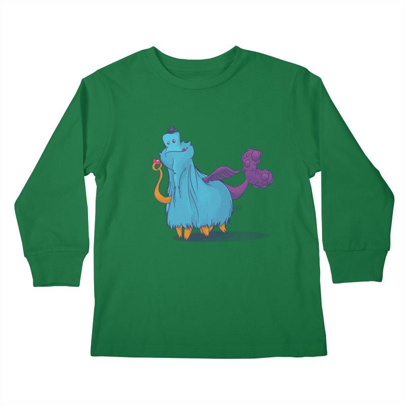 The Fluey Monster Kids Longsleeve T-Shirt by march1studios's Artist Shop