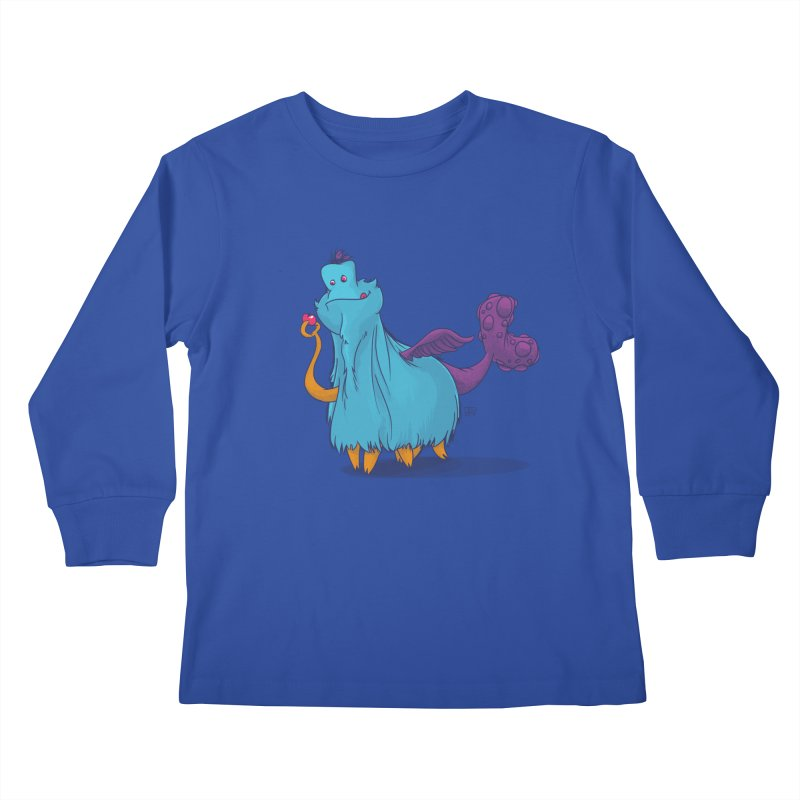 The Fluey Monster Kids Longsleeve T-Shirt by march1studios's Artist Shop