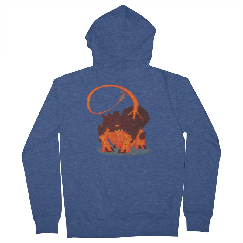 Lavahead Men's French Terry Zip-Up Hoody by march1studios's Artist Shop