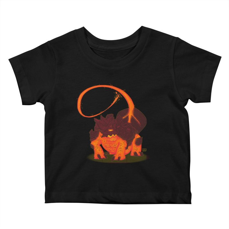 Lavahead Kids Baby T-Shirt by march1studios's Artist Shop