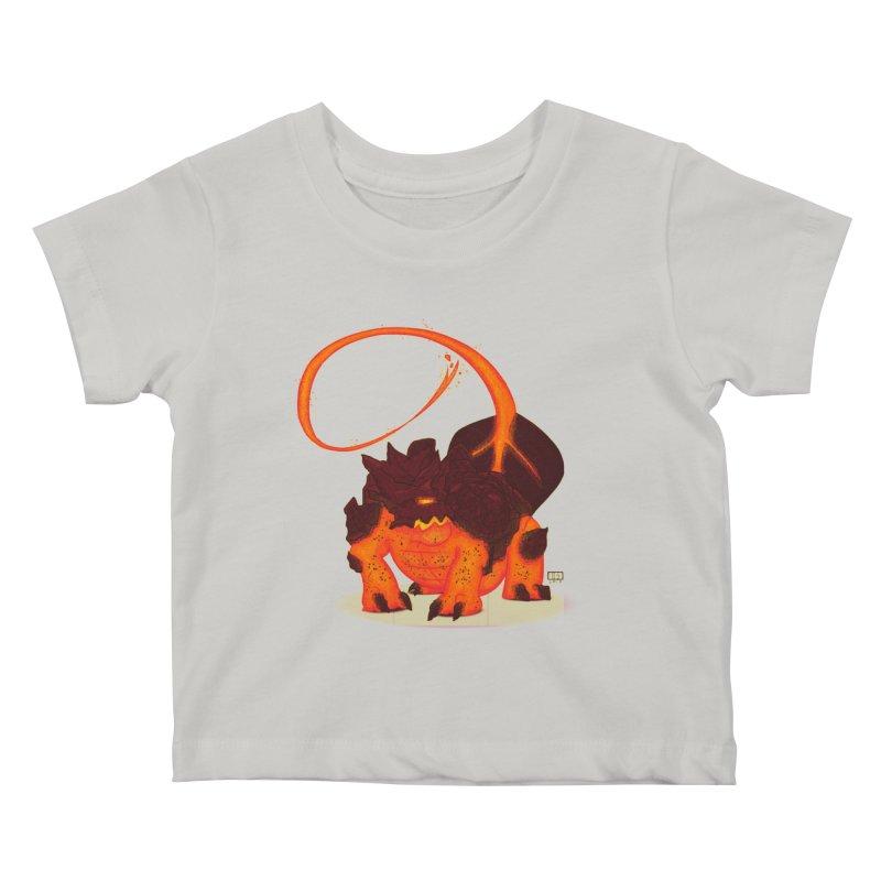 Lavahead Kids Baby T-Shirt by march1studios's Artist Shop