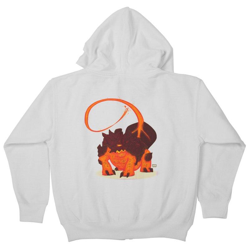 Lavahead Kids Zip-Up Hoody by march1studios's Artist Shop