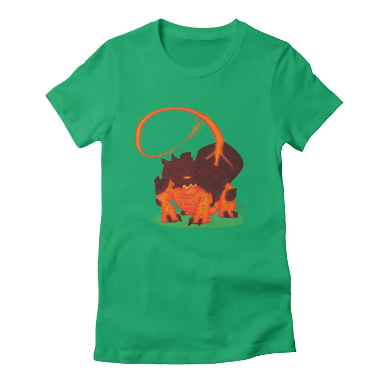 Lavahead Women's Fitted T-Shirt by march1studios's Artist Shop