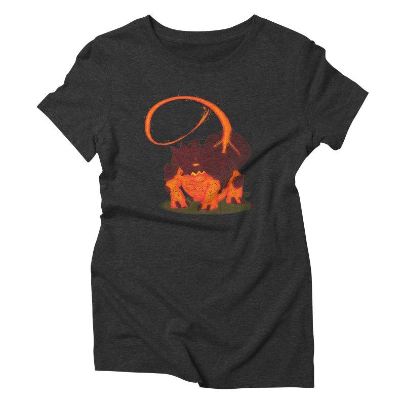 Lavahead Women's Triblend T-shirt by march1studios's Artist Shop