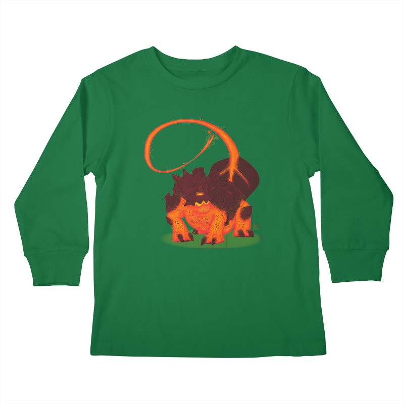 Lavahead Kids Longsleeve T-Shirt by march1studios's Artist Shop