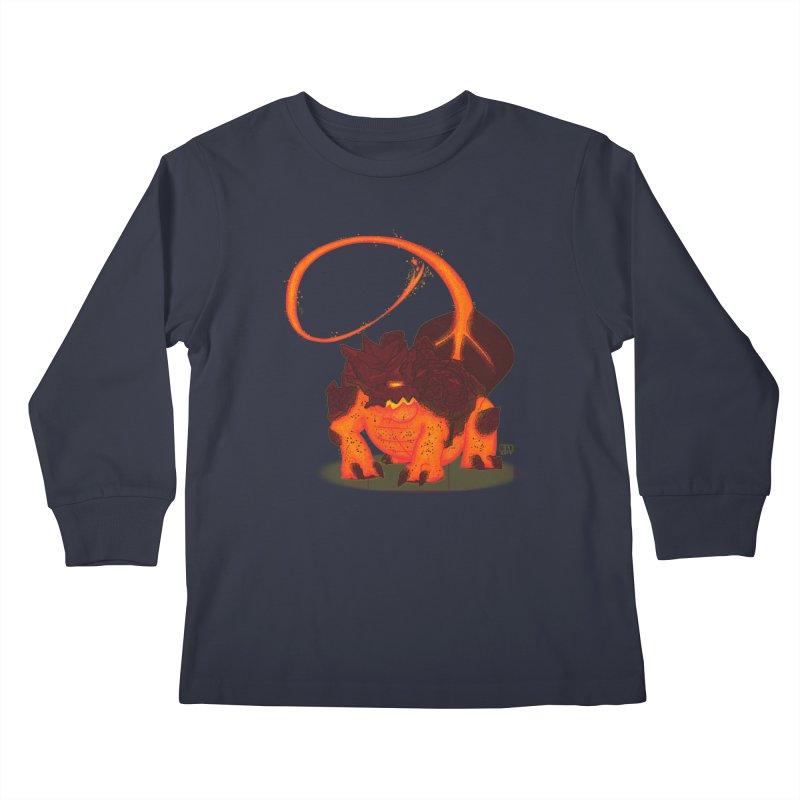 Lavahead Kids Longsleeve T-Shirt by march1studios's Artist Shop