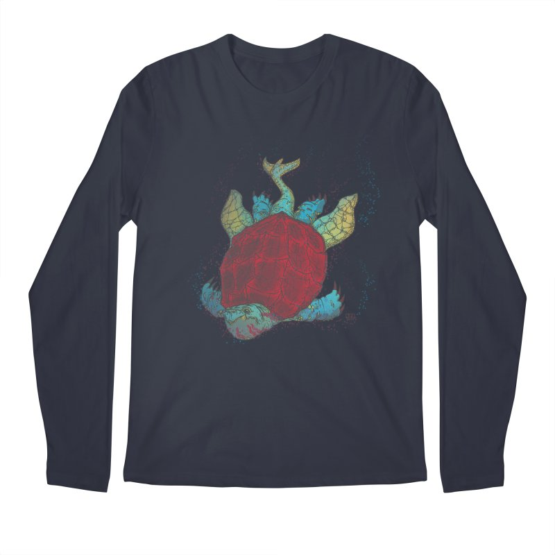 The Colossus Red Testudine Men's Longsleeve T-Shirt by march1studios's Artist Shop