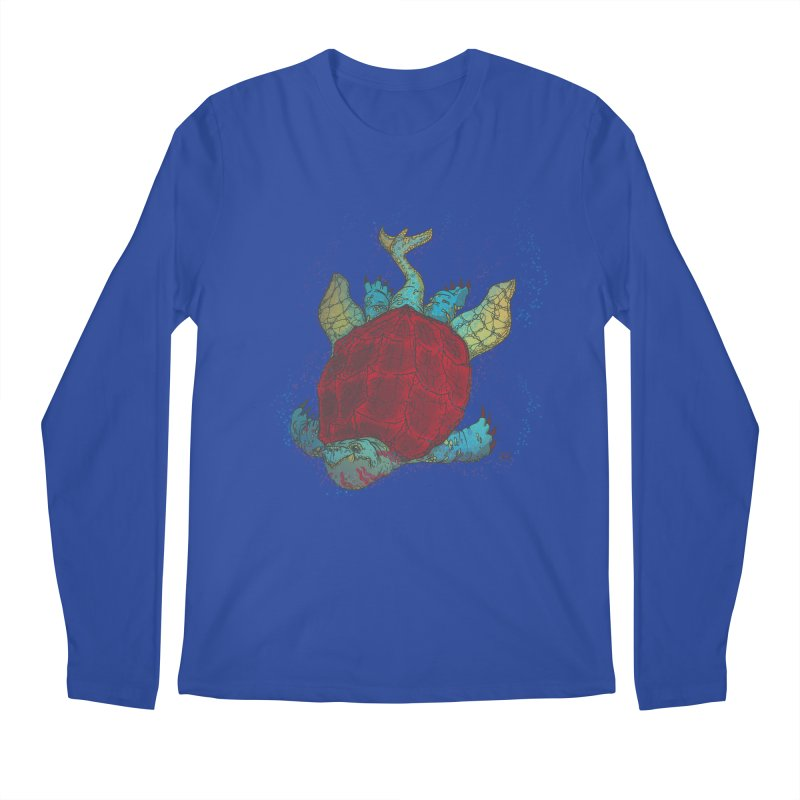 The Colossus Red Testudine Men's Regular Longsleeve T-Shirt by march1studios's Artist Shop