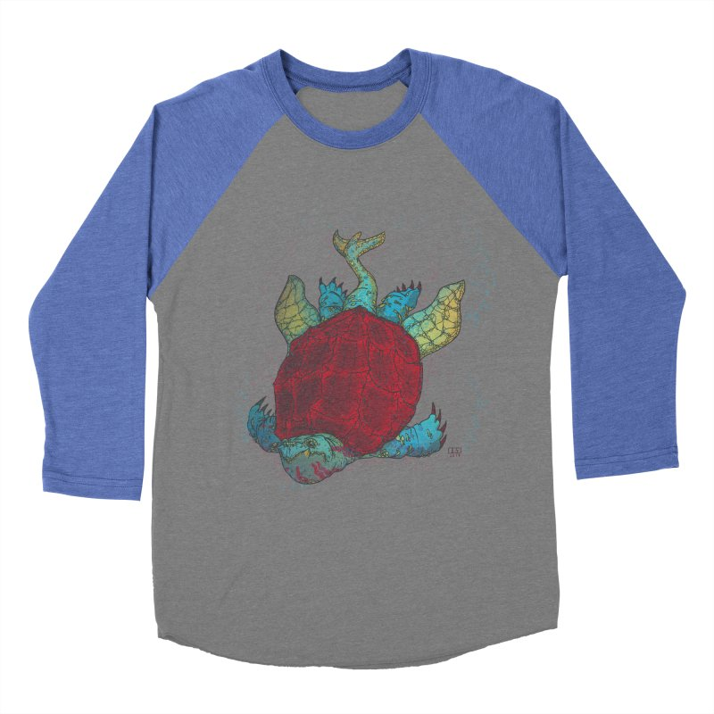 The Colossus Red Testudine Women's Baseball Triblend T-Shirt by march1studios's Artist Shop