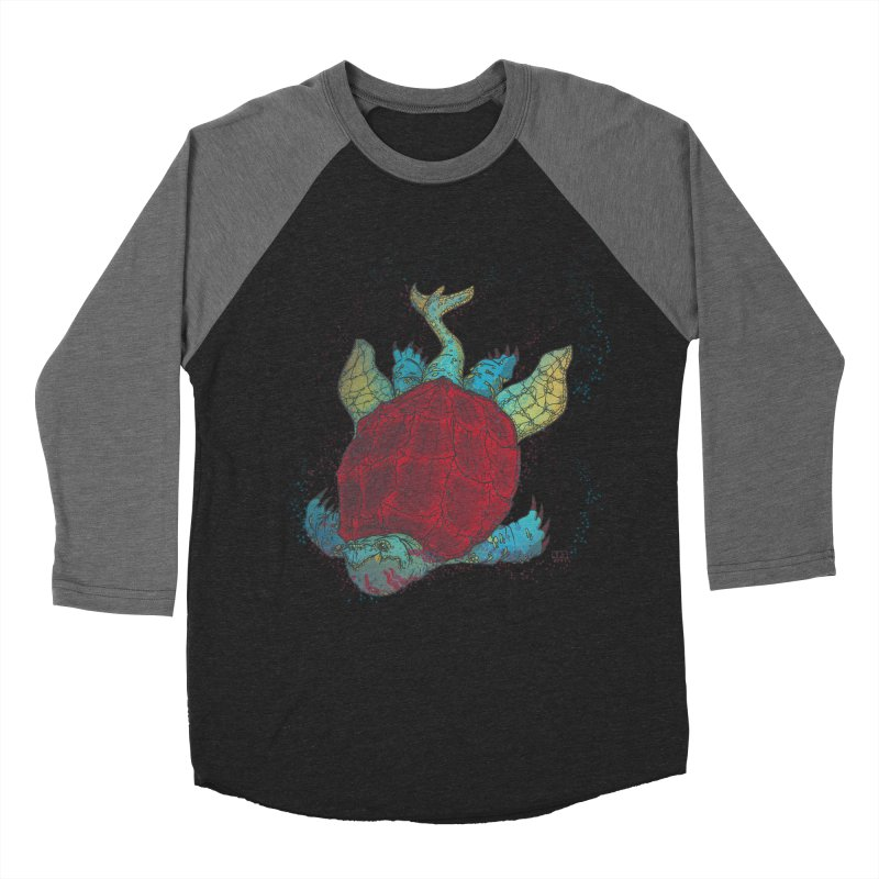 The Colossus Red Testudine Men's Baseball Triblend T-Shirt by march1studios's Artist Shop