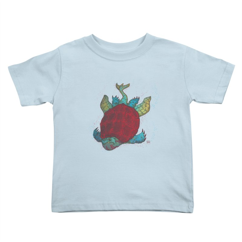 The Colossus Red Testudine Kids Toddler T-Shirt by march1studios's Artist Shop