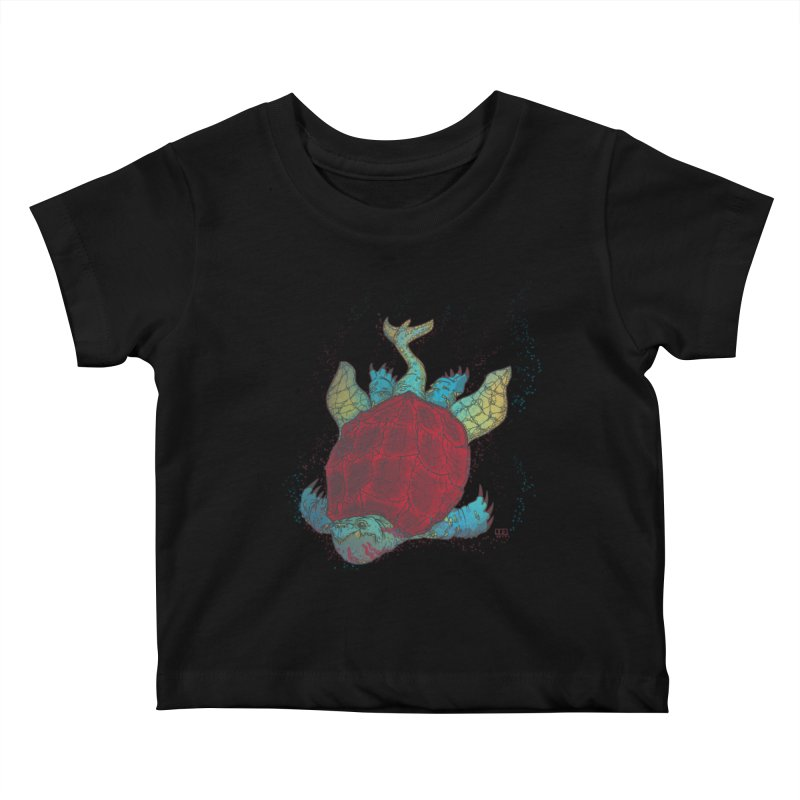 The Colossus Red Testudine Kids Baby T-Shirt by march1studios's Artist Shop