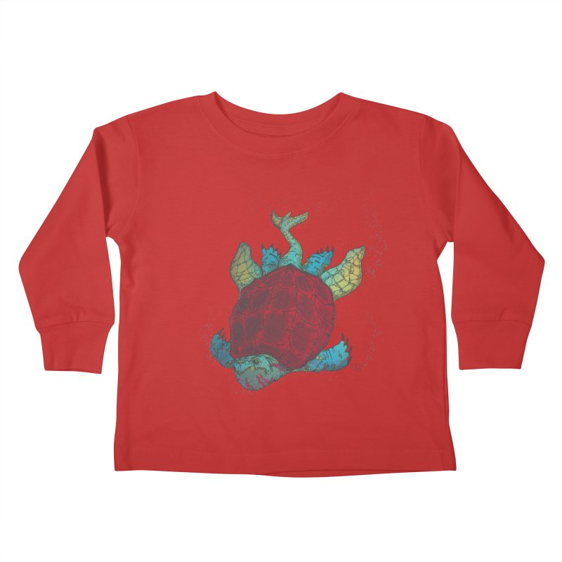 The Colossus Red Testudine Kids Toddler Longsleeve T-Shirt by march1studios's Artist Shop
