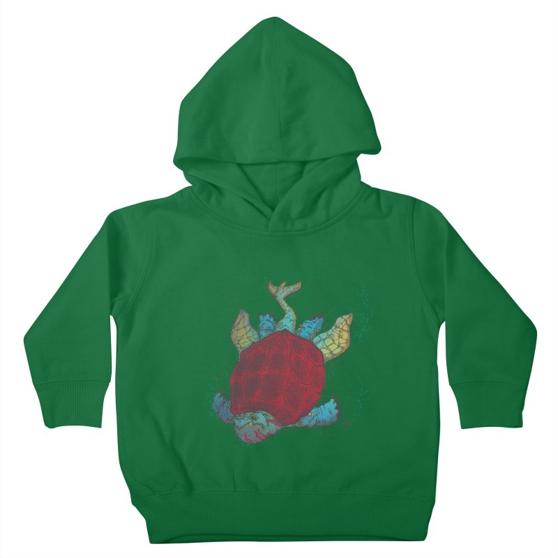 The Colossus Red Testudine Kids Toddler Pullover Hoody by march1studios's Artist Shop