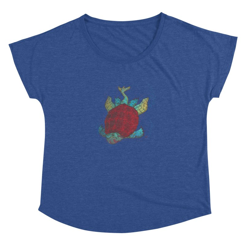 The Colossus Red Testudine Women's Dolman by march1studios's Artist Shop