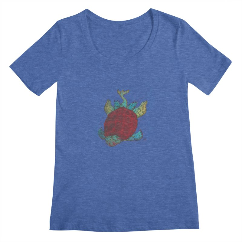 The Colossus Red Testudine Women's Scoopneck by march1studios's Artist Shop