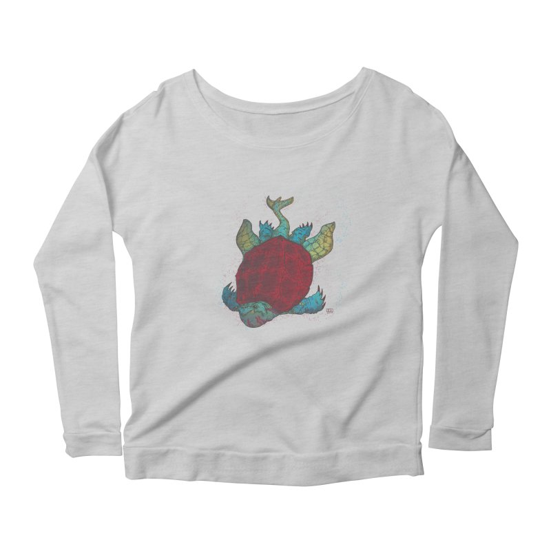 The Colossus Red Testudine Women's Longsleeve Scoopneck  by march1studios's Artist Shop