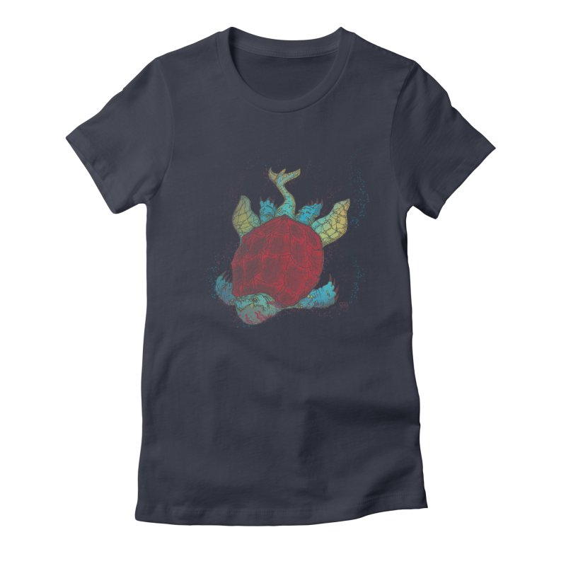 The Colossus Red Testudine Women's Fitted T-Shirt by march1studios's Artist Shop