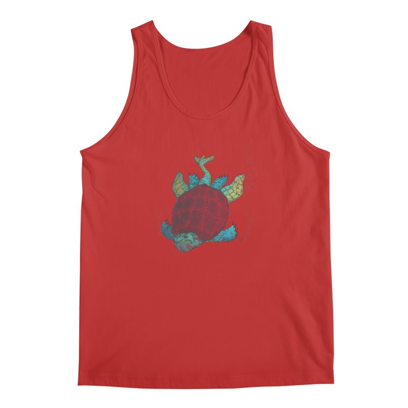 The Colossus Red Testudine Men's Regular Tank by march1studios's Artist Shop