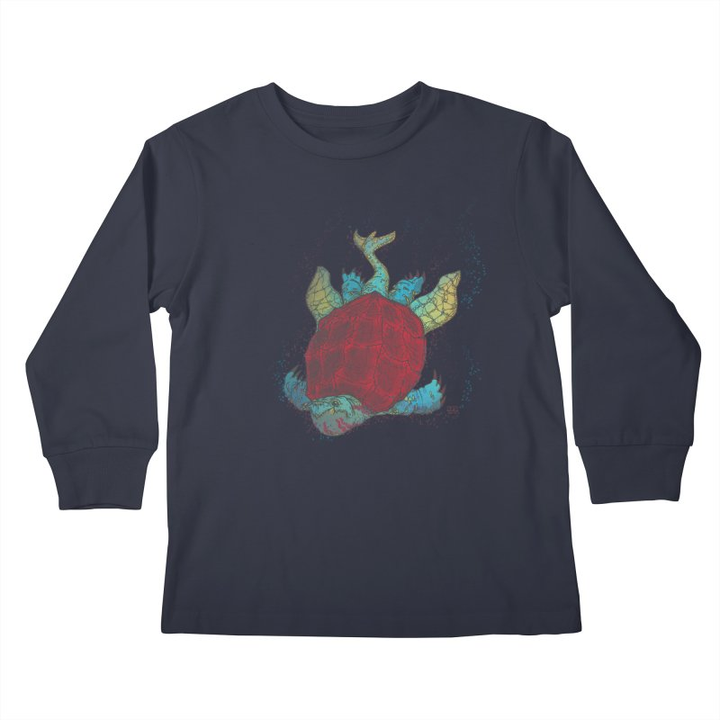 The Colossus Red Testudine Kids Longsleeve T-Shirt by march1studios's Artist Shop