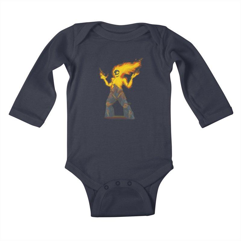 The Firelord Kids Baby Longsleeve Bodysuit by march1studios's Artist Shop