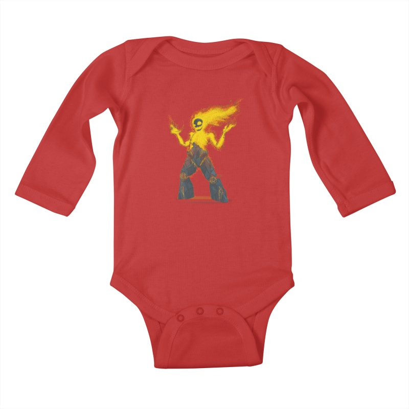 The Firelord Kids Baby Longsleeve Bodysuit by march1studios's Artist Shop