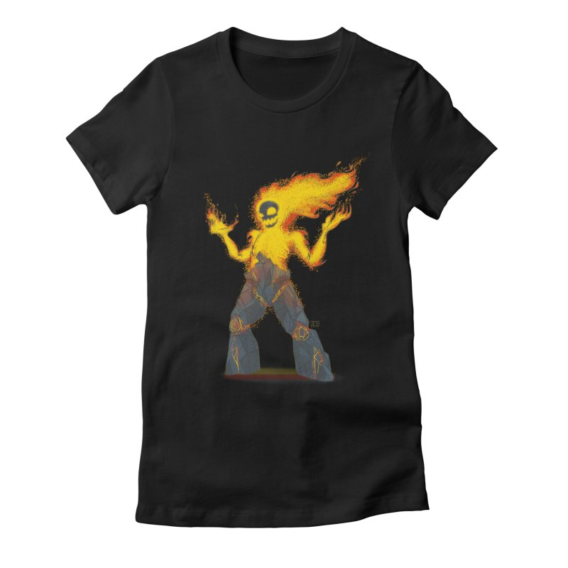 The Firelord Women's Fitted T-Shirt by march1studios's Artist Shop