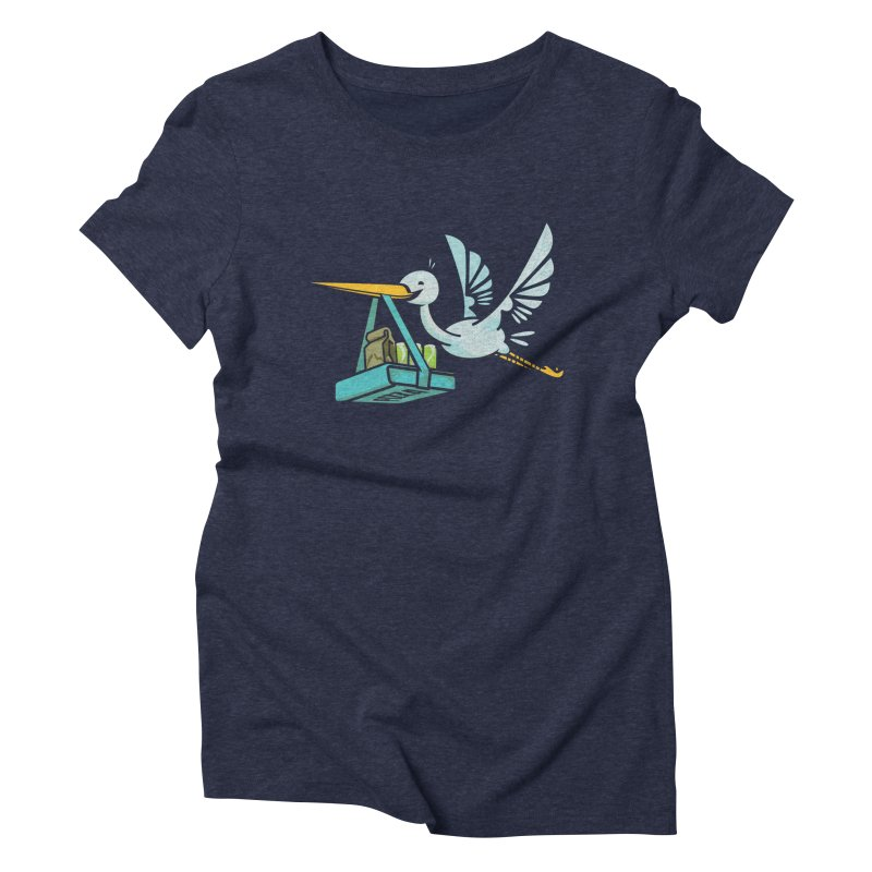 Where Food Babies Come From  Women's Triblend T-shirt by march1studios's Artist Shop